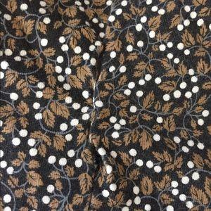 Vintage Pants - Vintage 90s Brown Floral Button Up Romper S/M